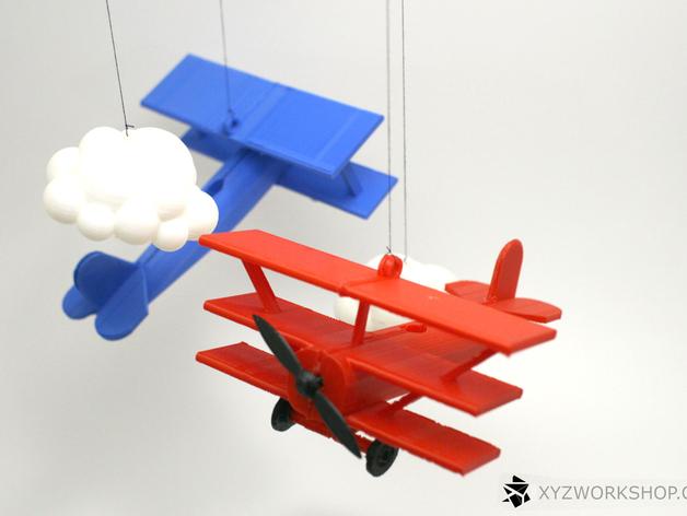螺旋桨飞机/白云