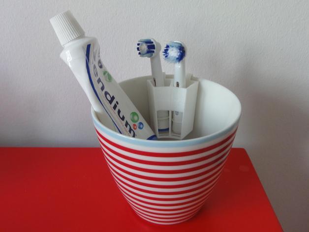 电动牙刷头部固定器