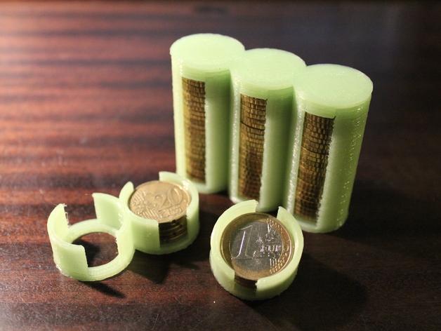 参数化硬币存钱罐 3D打印模型渲染图