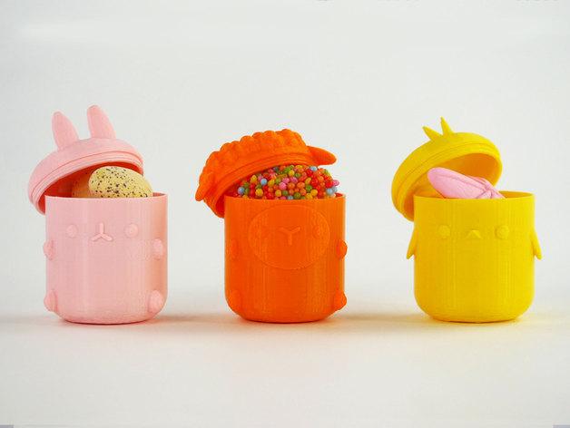 复活节礼物杯 3D打印模型渲染图