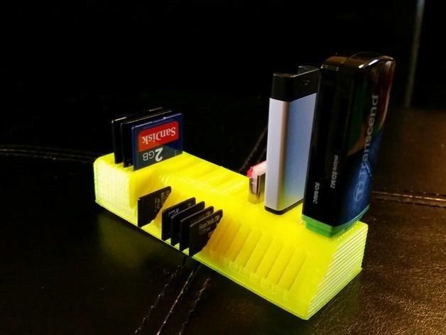 定制化USB卡/SD卡架 3D打印模型渲染图