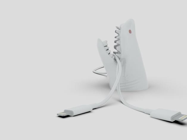 鲨鱼形桌面电线支架