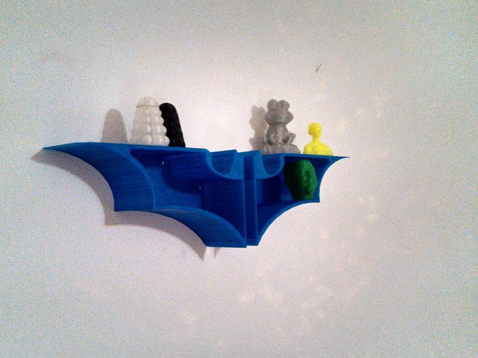 蝙蝠形壁挂式搁板 3D打印模型渲染图
