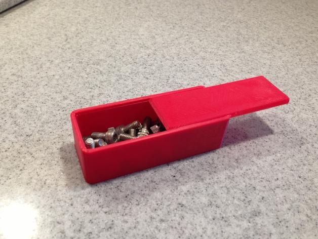 参数化滑盖零件盒 3D打印模型渲染图