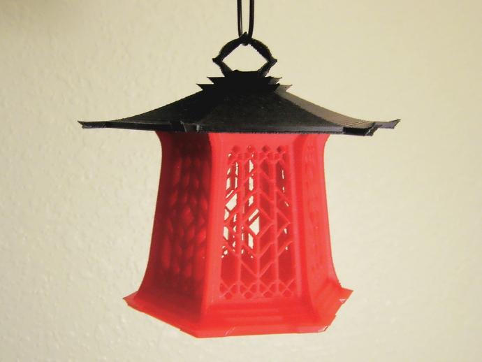 传统中式灯笼2 3D打印模型渲染图