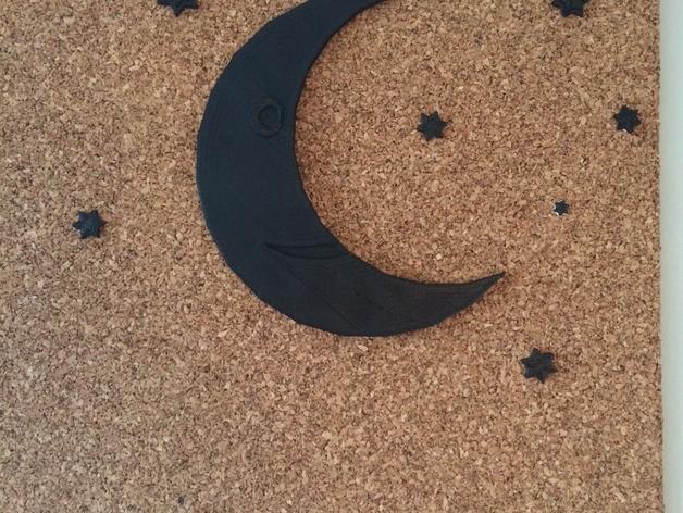 星星&月亮 3D打印模型渲染图
