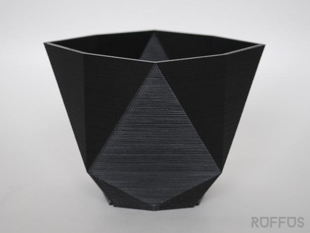 几何形花瓶 3D打印模型渲染图