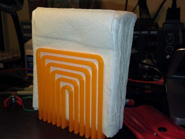 简易餐巾纸架 3D打印模型渲染图