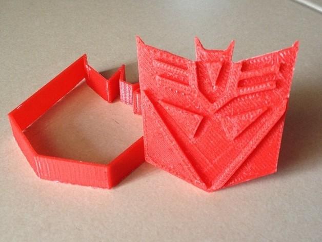 霸天虎饼干模具切割刀 3D打印模型渲染图