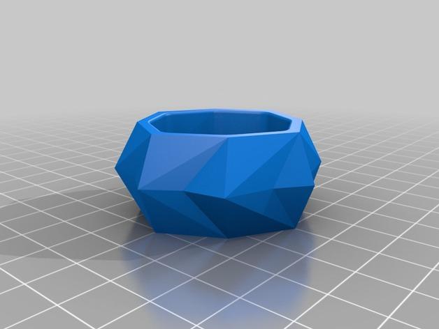 圆形水晶形餐巾环