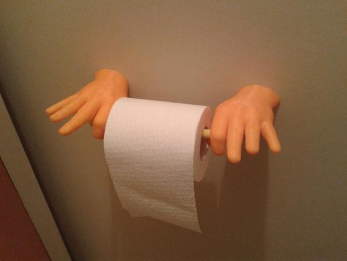 """""""OK手势""""厕纸架"""