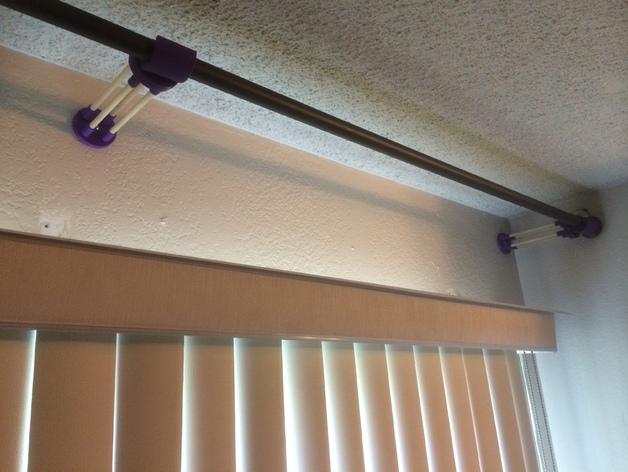 窗帘杆固定架