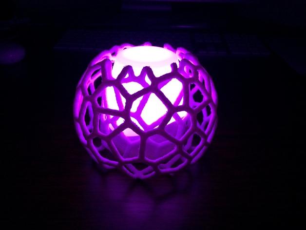 蜂巢形灯罩 3D打印模型渲染图