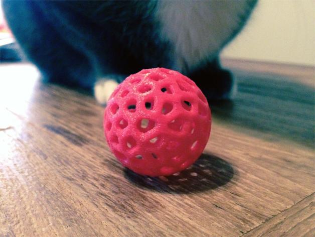 泰森多边形镂空小球 3D打印模型渲染图