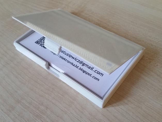 名片卡盒 3D打印模型渲染图