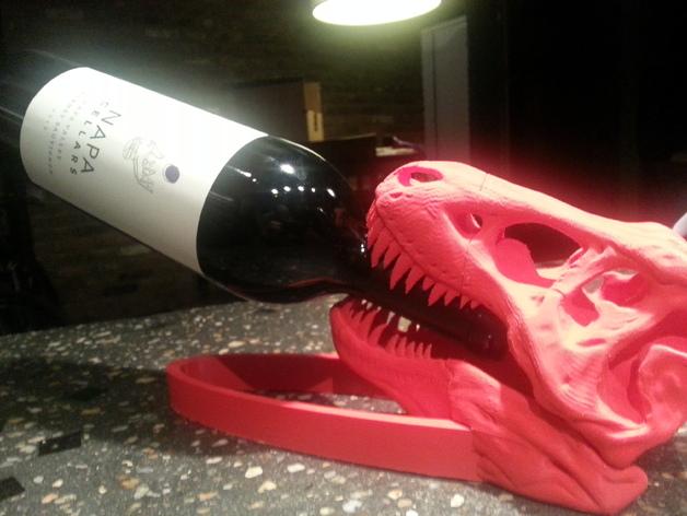 恐龙形葡萄酒瓶支架 3D打印模型渲染图