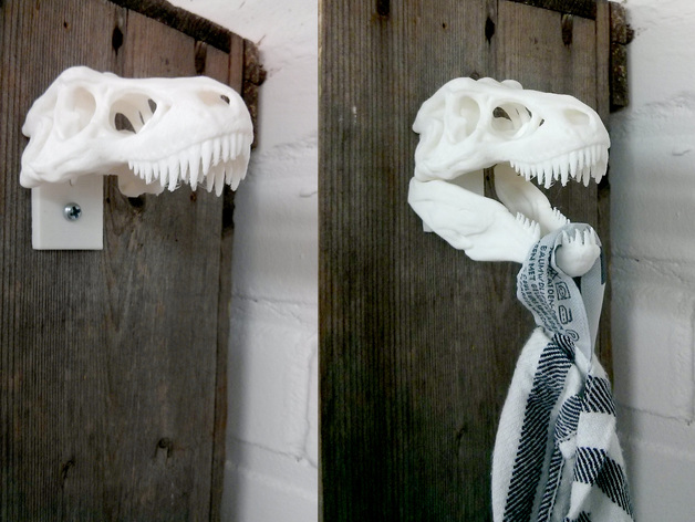 恐龙形毛巾架 3D打印模型渲染图