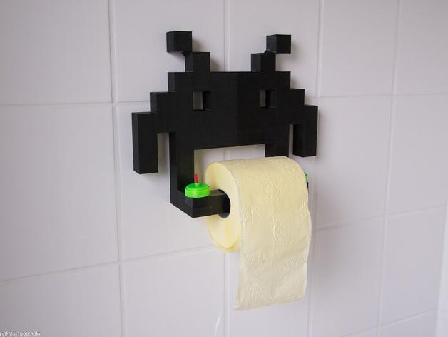 入侵者厕纸架 3D打印模型渲染图