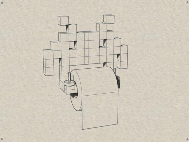 入侵者厕纸架