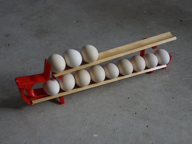 双层鸡蛋架 3D打印模型渲染图