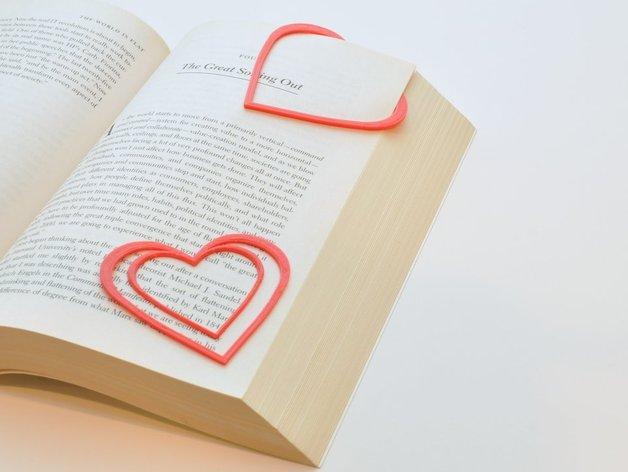 心形书签 3D打印模型渲染图