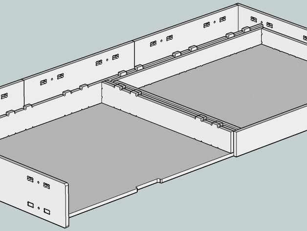 数控切割可调节高度的桌子
