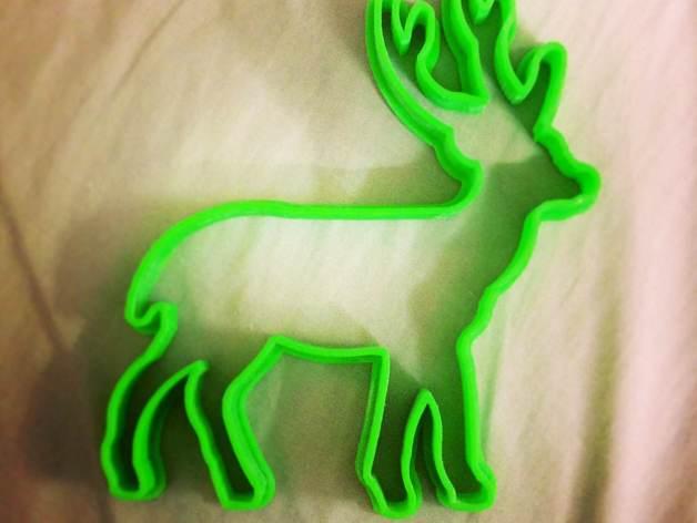 圣诞驯鹿饼干模具切割刀