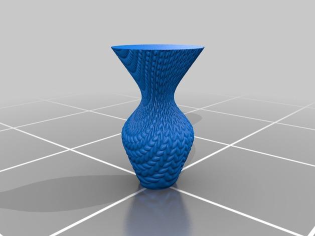 针织形花瓶