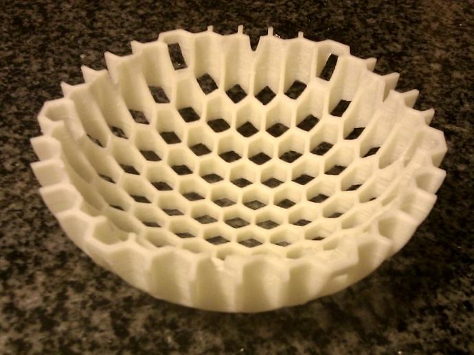 蜂巢形碗状装饰物