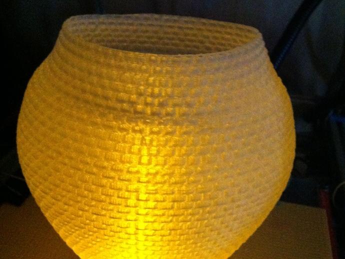 滚花形圆形花瓶