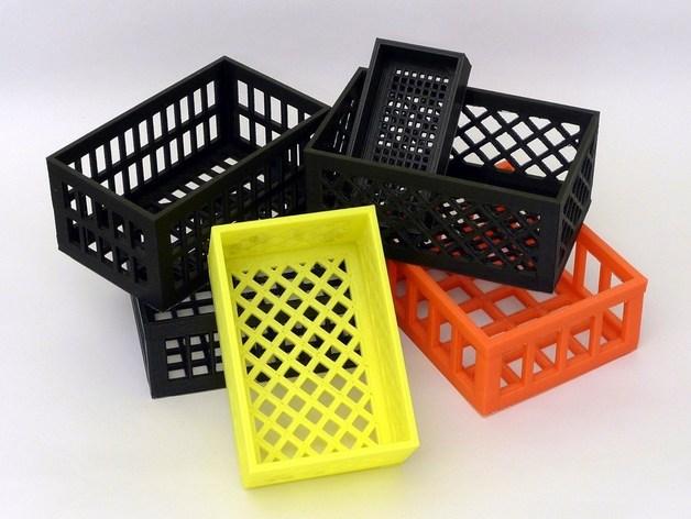 参数化镂空容器/盒子 3D打印模型渲染图