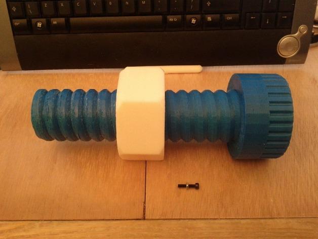 螺丝形文具盒 3D打印模型渲染图