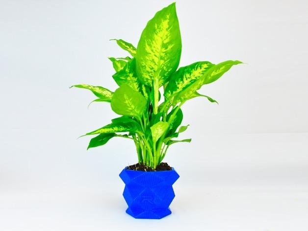 多边形花盆 3D打印模型渲染图