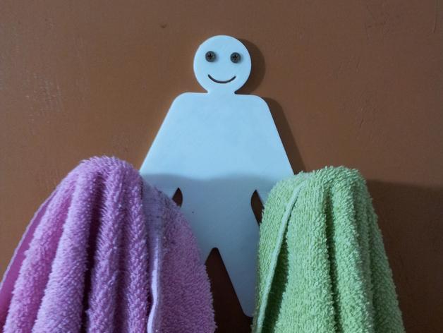 人形毛巾架