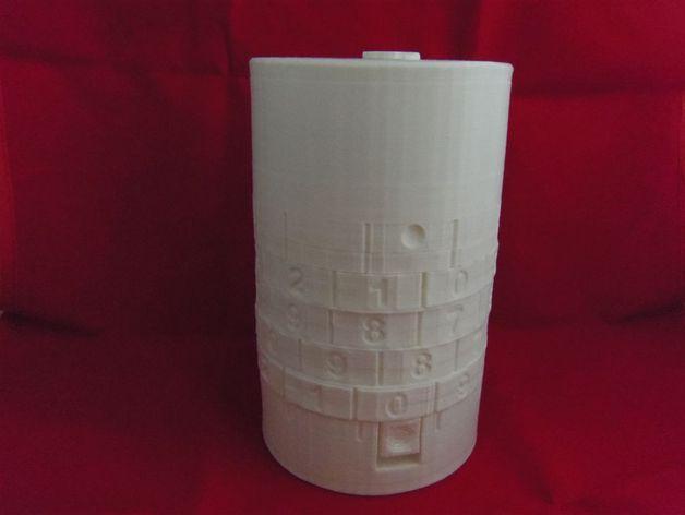密码锁软饮料罐盒/存钱罐 3D打印模型渲染图