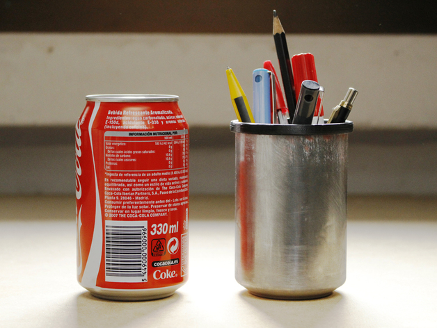 易拉罐笔筒 3D打印模型渲染图