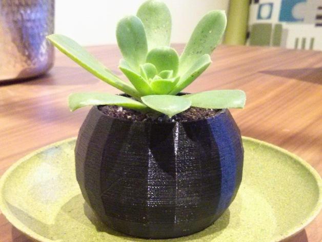 参数化球形花盆 3D打印模型渲染图