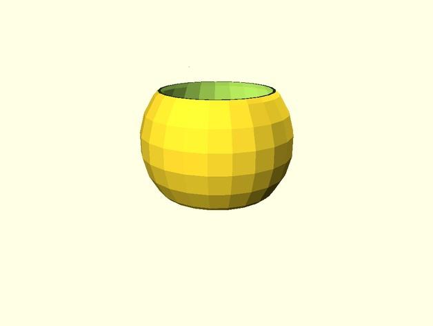 参数化球形花盆
