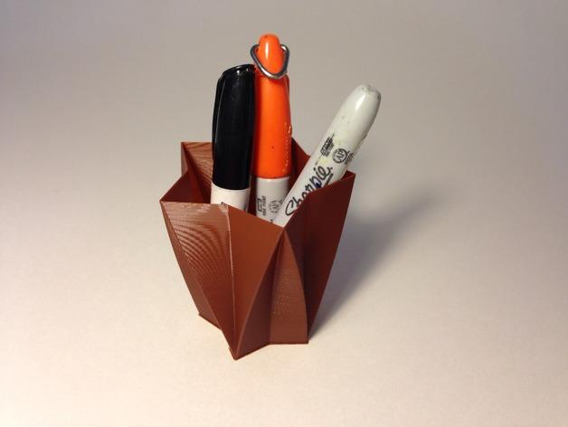 定制化星形花瓶/笔筒 3D打印模型渲染图