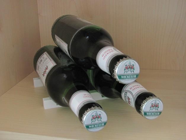 冰箱酒瓶架 3D打印模型渲染图