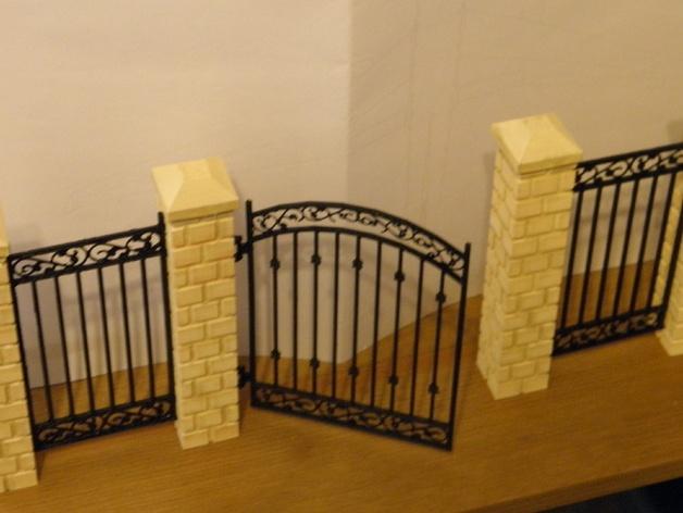 迷你简易铁门 3D打印模型渲染图