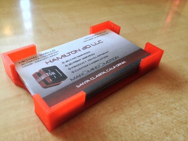 定制化名片盒 3D打印模型渲染图