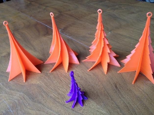 定制化迷你圣诞树 3D打印模型渲染图