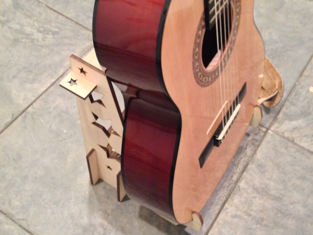 激光切割吉他支架 3D打印模型渲染图