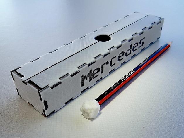 可折叠形文具盒 3D打印模型渲染图