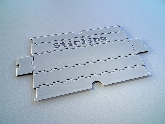 可折叠形文具盒
