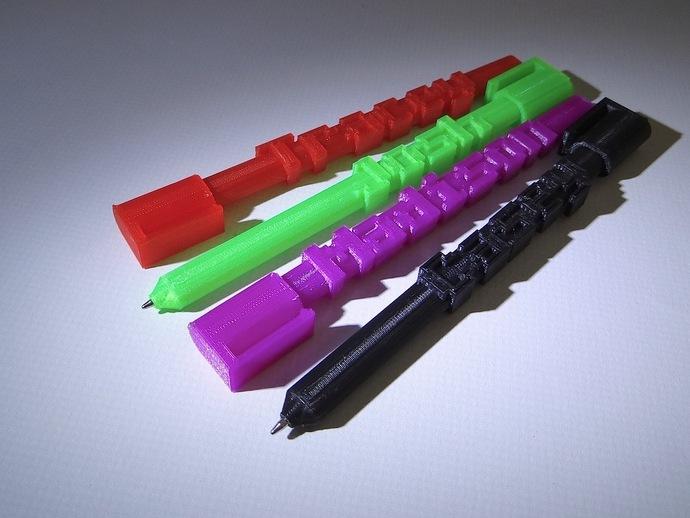 定制化圆珠笔外壳 3D打印模型渲染图