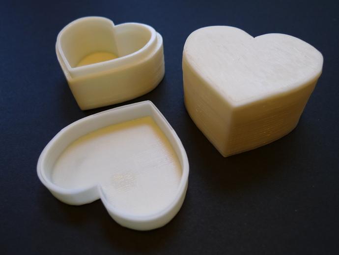 心形储物盒 3D打印模型渲染图