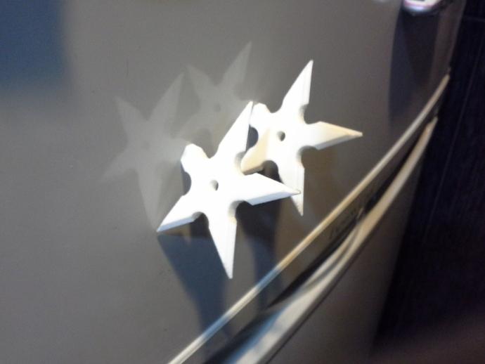 手里剑冰箱贴 3D打印模型渲染图