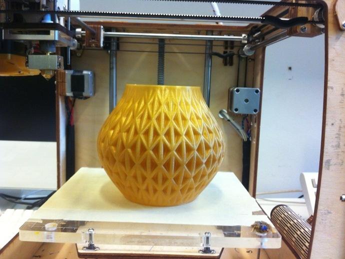 迷你圆形花瓶 3D打印模型渲染图